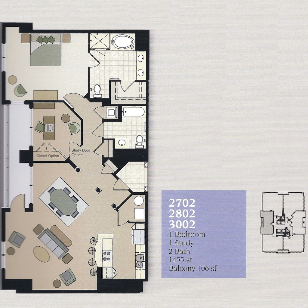 Westin Residences Virginia Beach Unit 2702, 2802 and 3002 Floor Plan